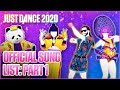 Just Dance 2020: Official Song List Part 1 us