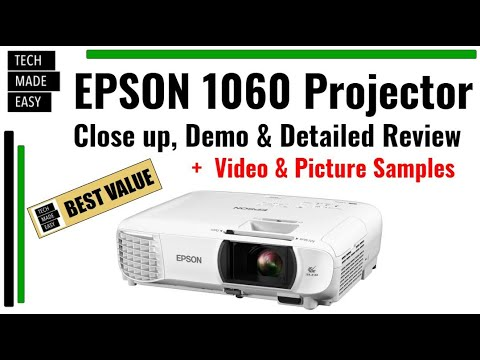 BEST Value 1080p HD Super Clear & Bright Epson 1060 HC Projector
