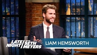 Liam Hemsworth: Jennifer Lawrence Is Terrible At Walking - Late Night With Seth Meyers