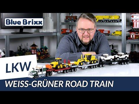 Weiß-grüner Road Train