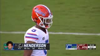 Florida CB: CJ HENDERSON || Best Corner in the Nation || Sophomore highlights !