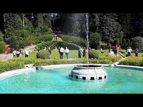 L'inaugurazione delle fontane di Villa Toepliz
