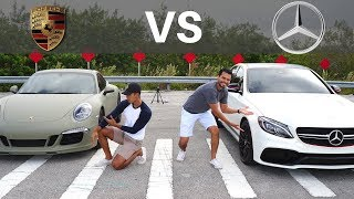 Which One Is Faster Off The Line? Mercedes or Porsche