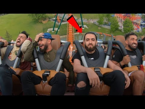 Showing No Emotion On The World's Scariest Roller Coaster ...😐