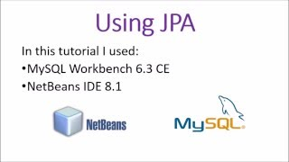 Using JPA with Netbeans and MySql