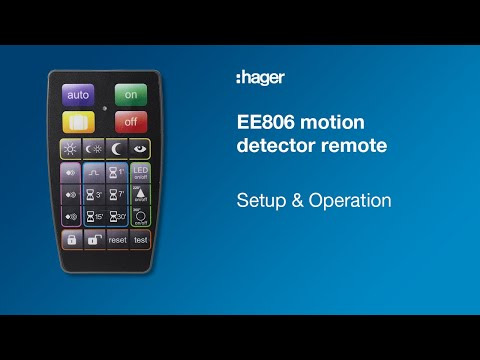 Tutorial: The EE806, motion detector remote