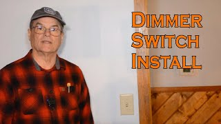 How To Install A Dimmer Light Switch