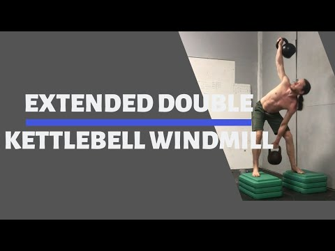 Extended Double Kettlebell Windmill