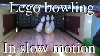 Lego bowling in slow motion!
