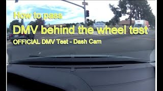Actual DMV Behind the Wheel Test – NO STRESS - Pass the first time