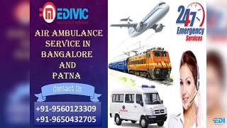 Now Book ICU and CCU Specialist Special Air Ambulance Service in Bangalore