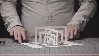 Bauhaus 3D Paper Structure: Spiral Exercise