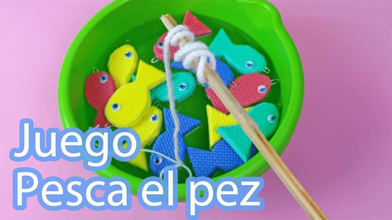Juego Pesca el pez | Manualidades de juguetes caseros para niños