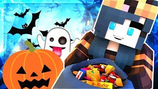 INVITED TO A SPOOKY HALLOWEEN PUMPKIN PARTY IN MINECRAFT!