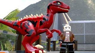 O DINOSSAURO DO JASON DE SEXTA-FEIRA 13 no LEGO Jurassic World Criando Dinossauros #72