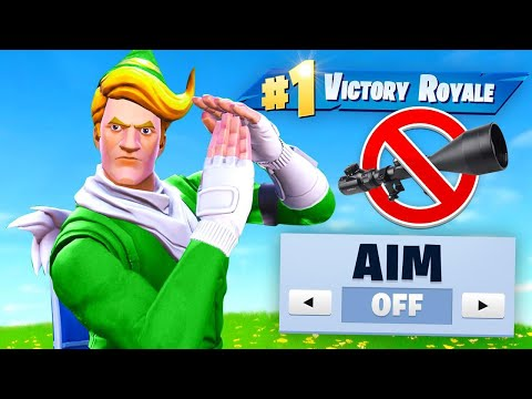 WINNING  *WITHOUT* Aiming Fortnite Challenge!