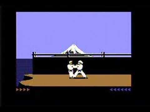Karateka on Commodore 128 w/ SuperCPU and RamLink