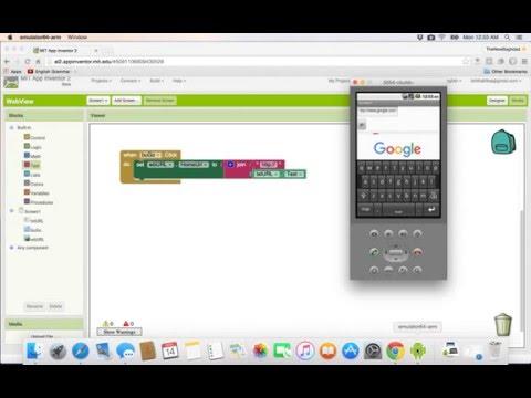 14- App inventer|| webview عمل متصفح بسيط