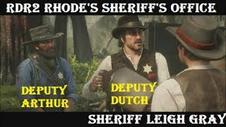 Red Dead Redemption 2 Stories: Rhodes Sheriff Leigh Gray (All Cutscenes)