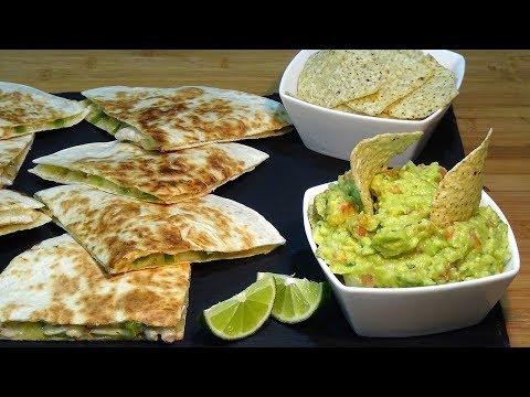 Receta Quesadillas de pollo y guacamole súper fácil - Recetas de cocina, paso a paso, tutorial