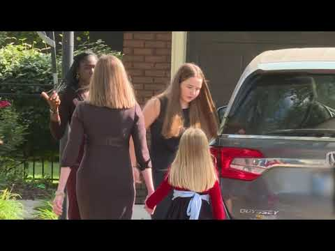 Breaking: Amy Coney Barrett & Her Family Leave Their Home, Heading to D.C. - Must Video