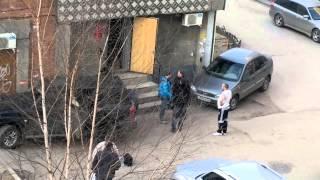 Бухарики дерутся у пивнушки в Рязани !