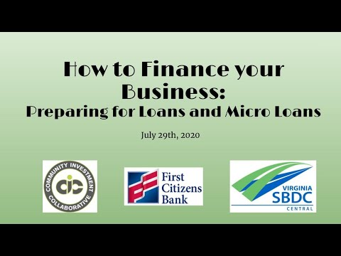 Intro to Financing You Business with CIC, SBDC, and First Citizens Bank (1:11:31)