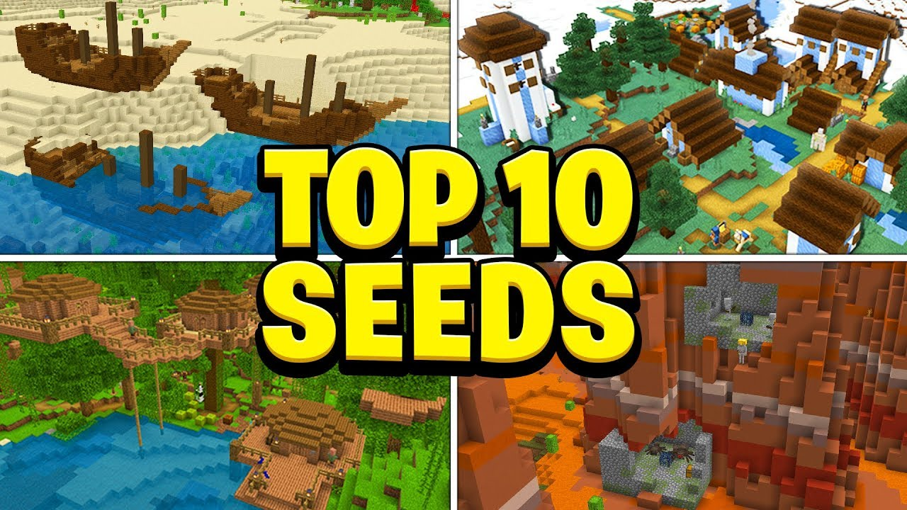 TOP 10 BEST NEW SEEDS For Minecraft! (Pocket Edition, PS4, Xbox, Switch, PC) MINECRAFT SEED Top10Seeds