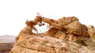 Are These Videos of Ancient Rock Formations Being Blown Up Fake?