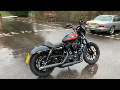 2020 Harley-Davidson XL1200NS Sportster Iron 1200 in Billiard Blue Ex Demo
