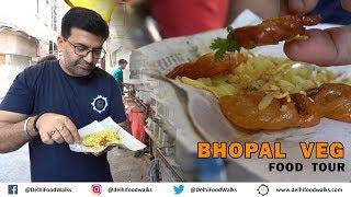 Bhopal Veg Food Tour - MUST EAT Dal Bafla + KESAR Jalebi + Bhopali Paan