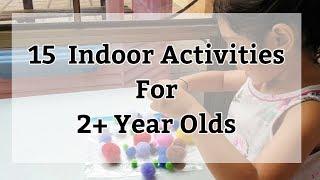 15 Indoor Activities For 2-5 Year Old Toddlers / Preschooler | Lockdown Special