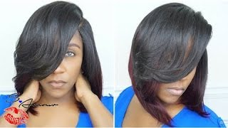 Deep Side Part Wig No Leave Out Bob Install   Cut & Style   No Sew, No Glue   Zury Lurex Hair