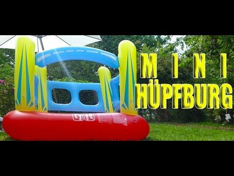 Mini Hüpfburg - aufblasbarer Bouncer für den Garten - günstige Hüpfburg für Kinder bis 6 Jahren