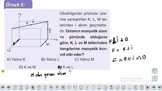 Eğitim Vadisi 11.Sınıf Fizik 21.Föy Elektrik ve Manyetizma 1 (Manyetik Kuvvet) Konu Anlatım Videoları