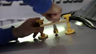 Тест дешевого китайского инструмента для беспокрасочного удаления вмятин