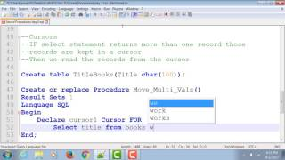 Introduction to Database Cursors