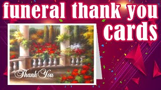Funeral Thank You Cards - Templates For Download