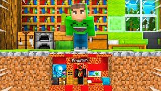 I Built a MINI House Under Jelly's Minecraft House!