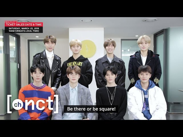 TOUR ANNOUNCEMENT : NCT 127 1st World Tour 'NEO CITY' (Be there or be square!)