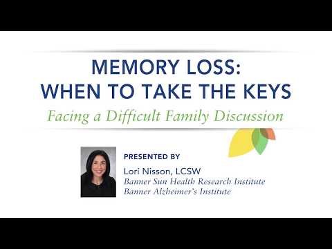 When to Take the Keys: Facing Difficult Family Discussions–Lori Nisson, LCSW