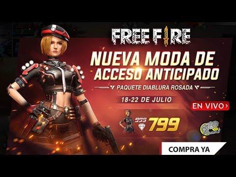 🔴 Consiguiendo a la Nueva Diablura Rosada - Free Fire - Hoy Directo Temprano!!