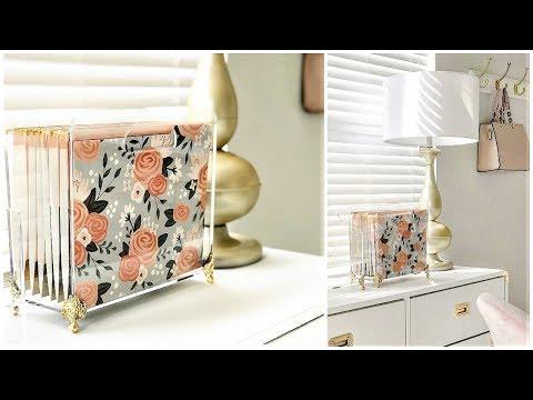 NEW! Home Office Organization | DIY File Folder Holder Gold Box Feet