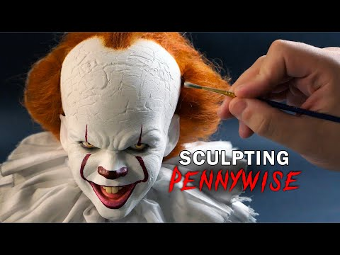 sculpture pennywise it characters by steven richter