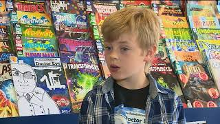 10 year-old Drew Marr/Gold Lion Comics on STV News Dundee