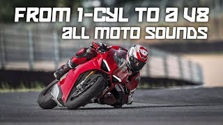 All Motorcycle Engine Sounds (from 1-cylinder to a V-8)
