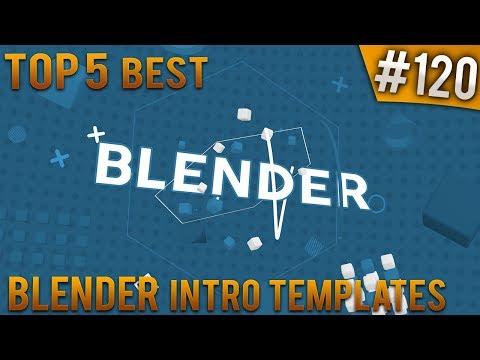 TOP 5 BEST Blender 2D intro templates #120 (Free download)