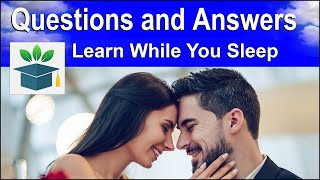 English Conversation ★ Sleep Learning ★ Common Questions and Answers (Subtitles)