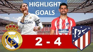 Real Madrid Vs Atletico Madrid 2 - 4, Piala Super Eropa