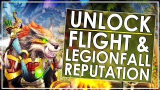 Legion Patch 7.2: How To Unlock Flying & Grind Armies of Legionfall Rep